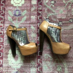 Recently Madded Platform Leather Heels Size 7